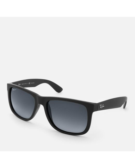 22171c7449 ... Ray-Ban - Black Justin Square Frame Sunglasses for Men - Lyst ...