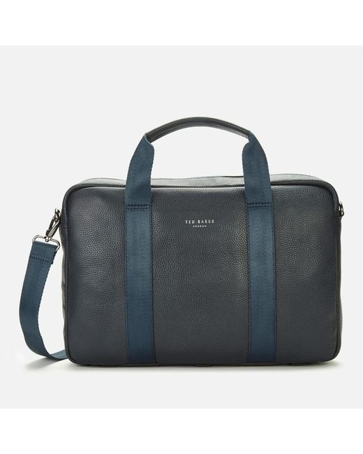 Ted Baker Black Importa Leather Document Bag for men