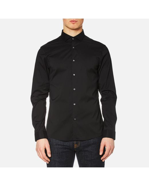 Michael Kors | Black Men's Slim Cotton/nylon Stretch Shirt for Men | Lyst