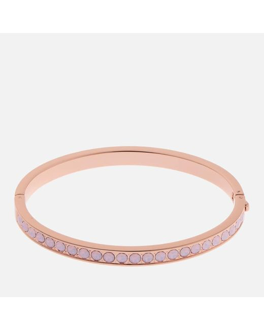 Ted Baker Pink Clemara Hinge Swarovski Crystal Bangle