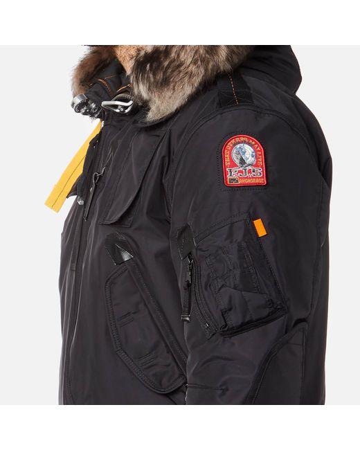 ... Parajumpers | Black Gobi Faux Fur Bomber Jacket for Men | Lyst ...