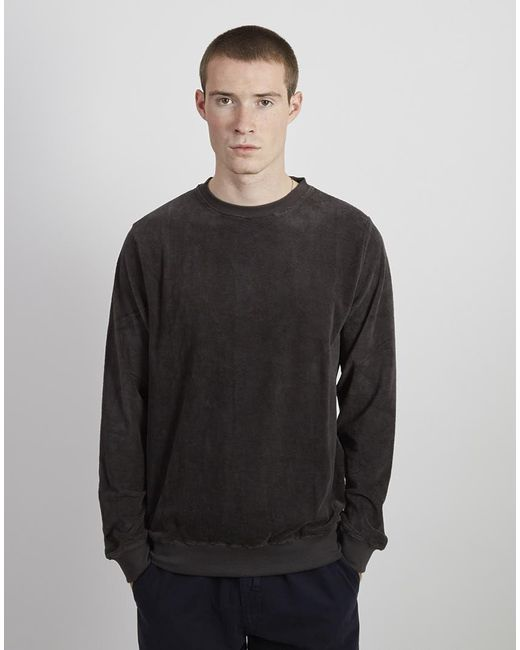 The Idle Man - Gray Velvet Sweatshirt Grey for Men - Lyst