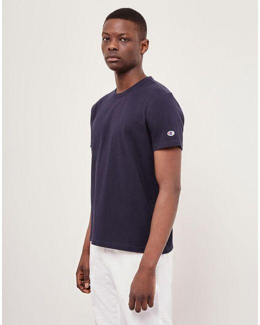 Champion | Blue Reverse Weave Crew Neck T-shirt Navy for Men | Lyst