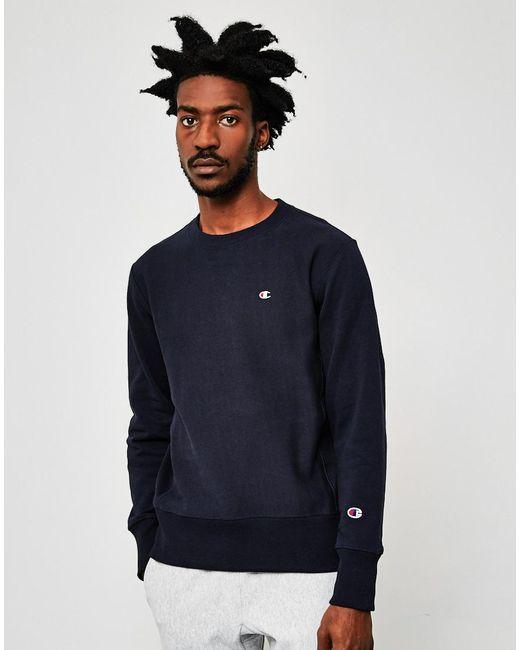 Champion   Blue Classic Reverse Weave Sweatshirt Navy for Men   Lyst
