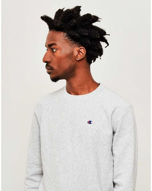 Champion | Gray Classic Reverse Weave Sweatshirt Grey for Men | Lyst