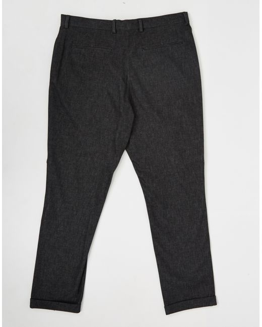 Selected Aston Dark Grey Trouser In Gray For Men Grey