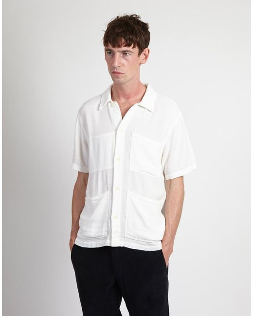 Nudie Jeans - Svante Shirt Off White for Men - Lyst
