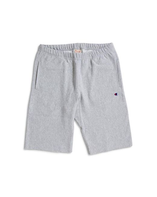 Champion - Gray Sweat Shorts Small Logo Grey for Men - Lyst