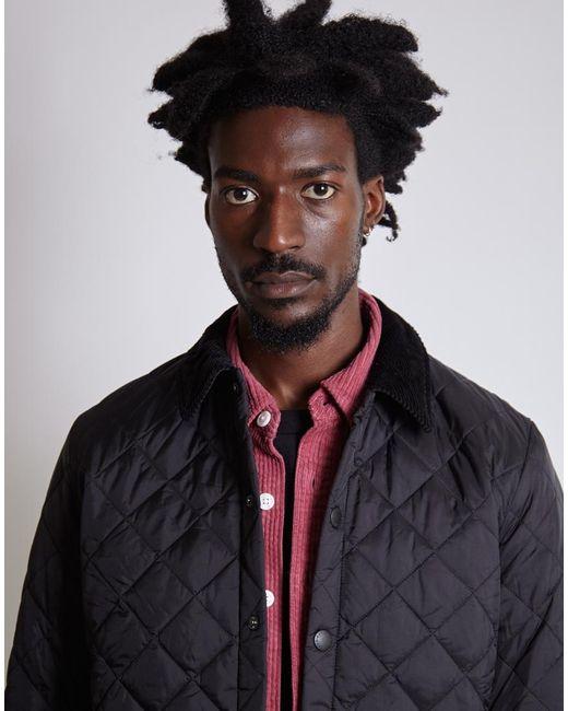 Barbour - Heritage Liddesdale Quilted Jacket Black for Men - Lyst