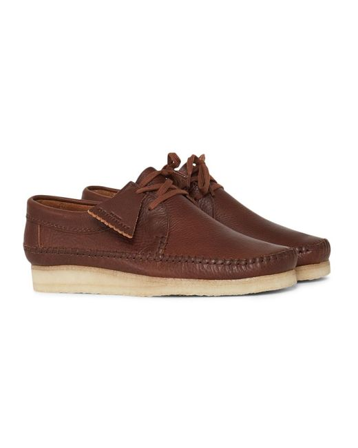 Clarks | Leather Weaver Brown for Men | Lyst