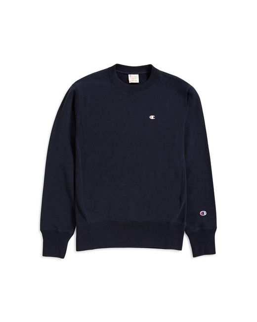 Champion - Blue Classic Reverse Weave Sweatshirt Navy for Men - Lyst