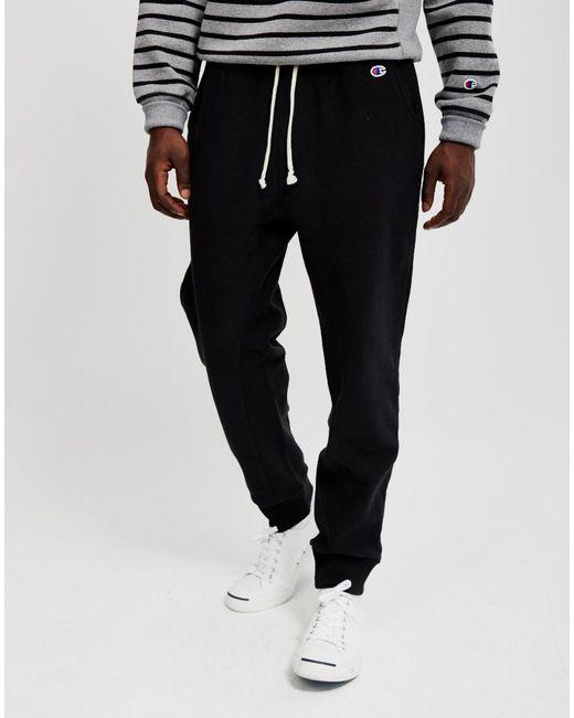 Champion | Reverse Weave 2.0 Rib Cuff Pants Black for Men | Lyst