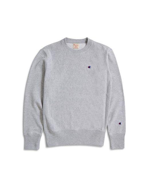 Champion - Gray Classic Reverse Weave Sweatshirt Grey for Men - Lyst