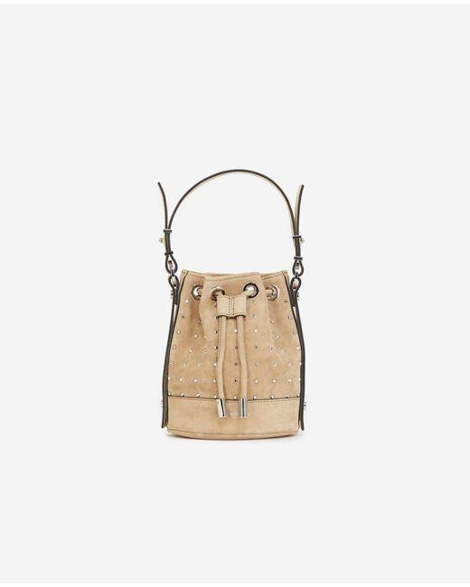 The Kooples Natural Tasche Nano Tina Wildleder beige