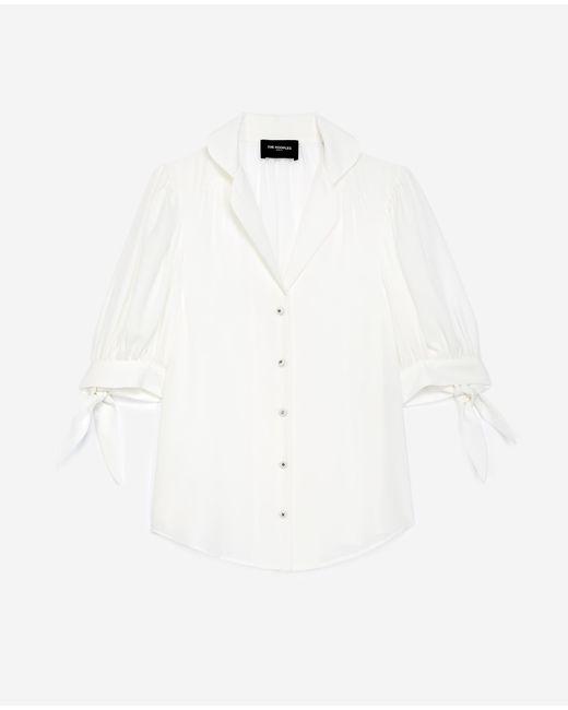 The Kooples White Kurzarm-Hemd ecrufarben bedruckt
