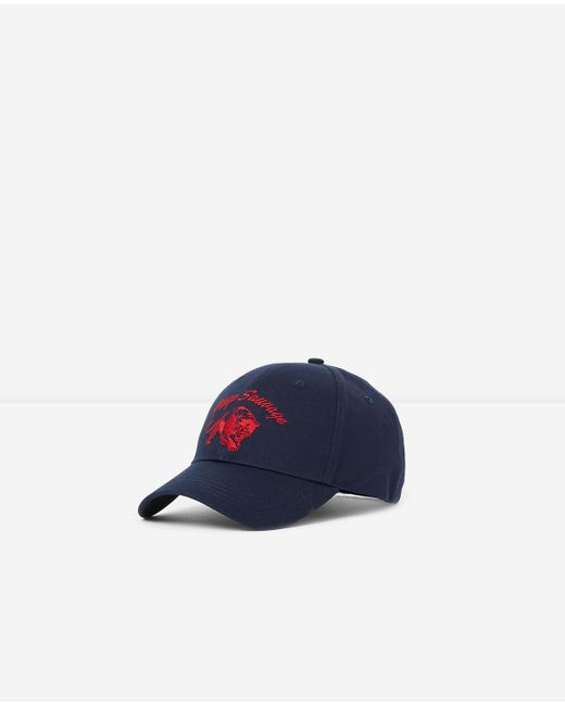 The Kooples - Navy Blue Cap With Red Embroidered Tiger Head for Men - Lyst