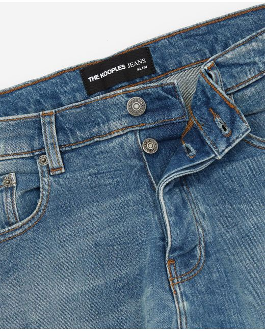 34a845629c The Kooples Blue Slim-fit Jeans in Blue for Men - Lyst