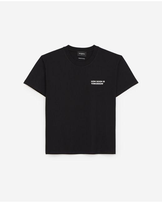 The Kooples Zwart Katoenen T-shirt Met Logo Op De Borst in het Black