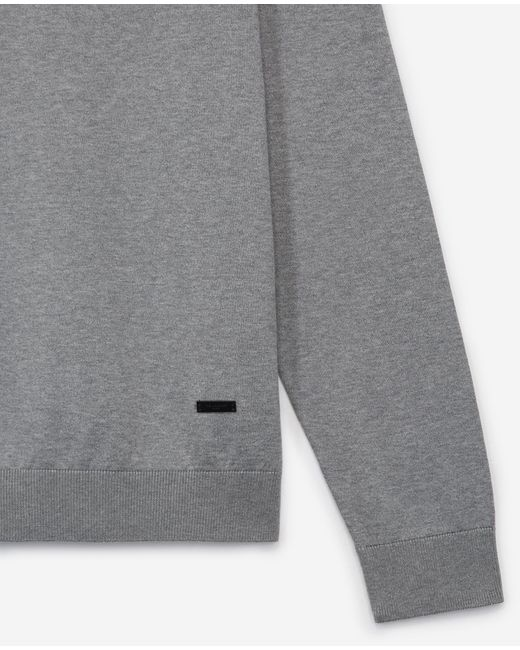The Kooples Lichtgrijze Katoenen Trui V-hals Leren Label in het Gray voor heren