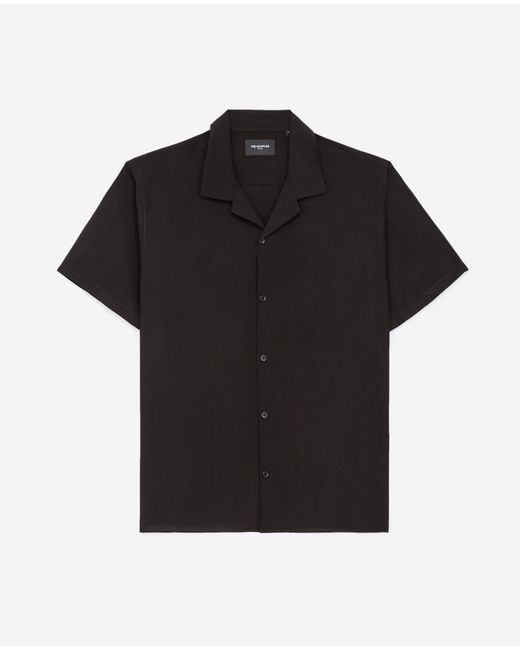 The Kooples Flowing Black Shirt With Short Sleeves for men