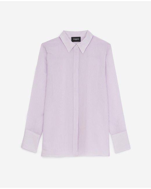 Camisa rayas violeta blanca sencilla The Kooples de color Purple