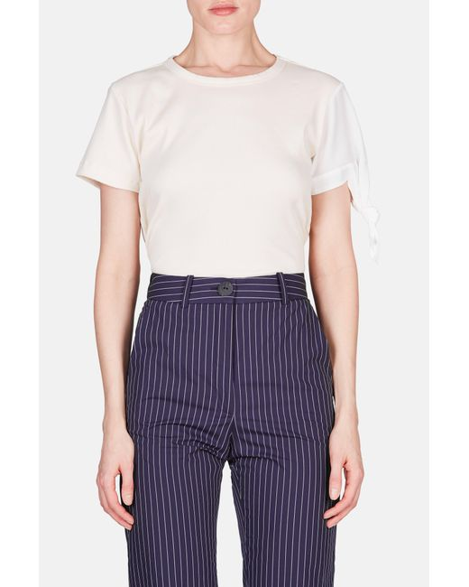 J.W. Anderson - Multicolor Single Knot Tee With Silk Sleeve - Lyst