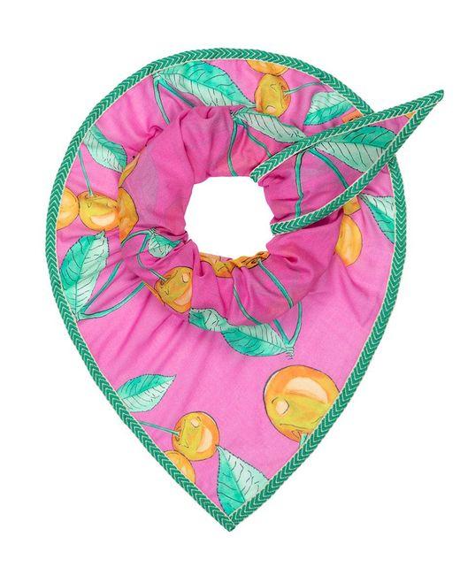 POM Amsterdam - Shawl Cherries Pink - Lyst