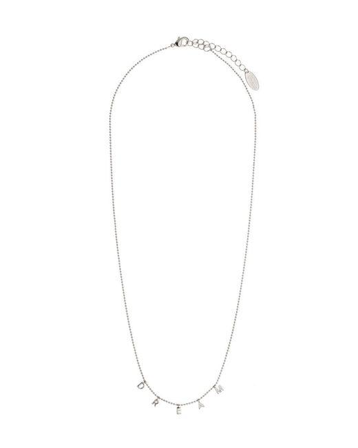 Orelia - Metallic Dream Charm Script Necklace - Lyst