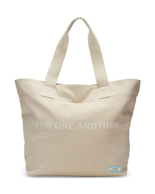 TOMS - Natural For One Another Transport Tote Bag - Lyst