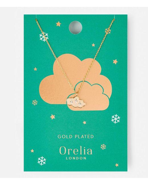Orelia   Metallic Cloud Charm Necklace   Lyst