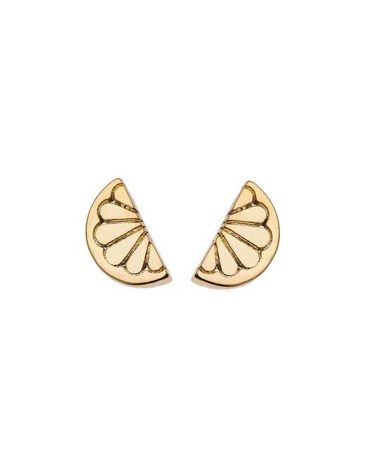 Orelia - Metallic Mini Lemon Stud Earrings - Lyst