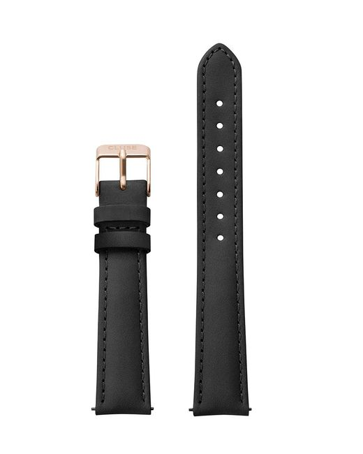 Cluse Black Strap 16 Mm Leather