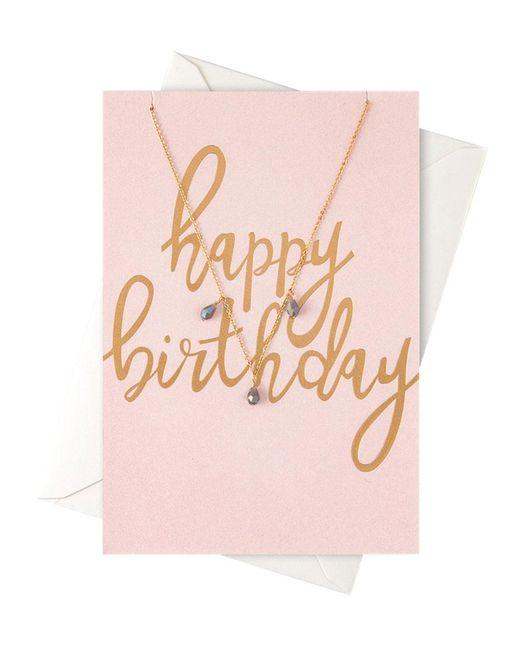 Orelia - Metallic Happy Birthday Giftcard Necklace - Lyst