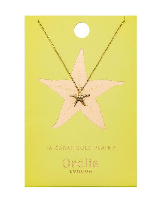 Orelia - Metallic Starfish Ditsy Necklace - Lyst