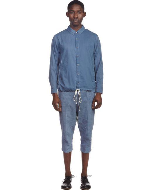 By Walid | Blue Cotton Poplin Joel Shirt for Men | Lyst