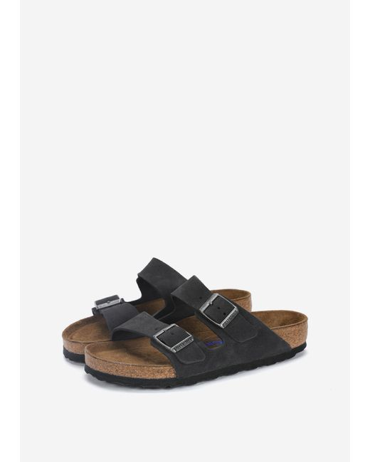 e1adcbbf35a ... Birkenstock - Gray Arizona Soft Footbed Suede - Lyst ...