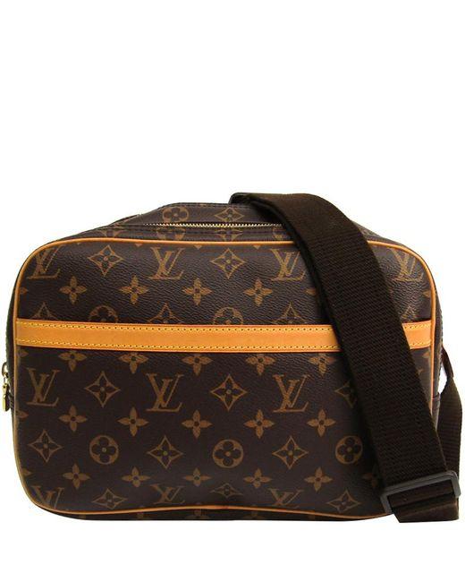 a5da19b0bad7 Louis Vuitton - Brown Monogram Canvas Reporter Pm Bag - Lyst .