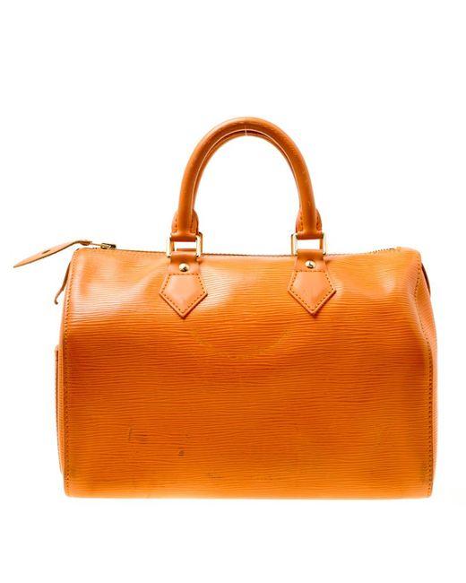 Louis Vuitton Orange Mandarin Epi Leather Speedy 25