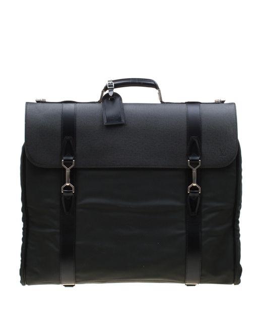 2d8449a2856e Black/green Taiga Leather And Nylon Gibeciere Garment Bag