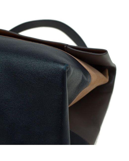 14d7712b32e ... Céline - Black Tri Color Leather And Suede All Soft Shoulder Bag - Lyst  ...