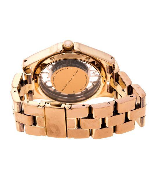 3187d65d4ecba ... Marc By Marc Jacobs - Metallic Rose Plated Henry Skeleton Mbm3207  Women's Wristwatch 40 Mm ...
