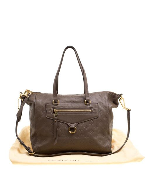 ed8e25707a81 ... Louis Vuitton - Brown Ombre Monogram Empreinte Leather Lumineuse Pm Bag  - Lyst ...