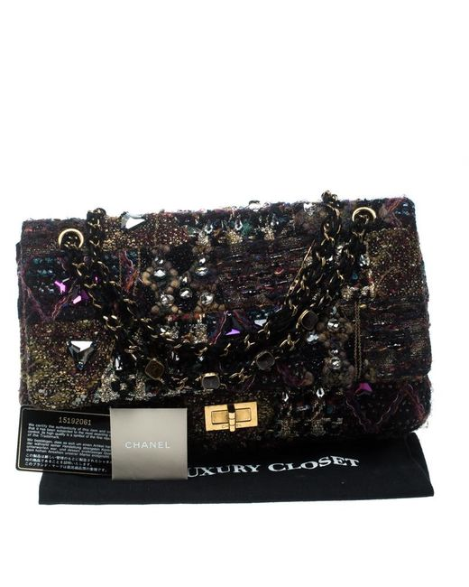 25e54be3c39c ... Chanel - Multicolor Tweed And Jeweled Limited Edition Lesage Reissue  Flap Bag - Lyst ...