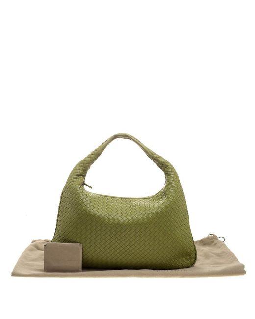 34965bf3ce06 Bottega Veneta - Green Lime Intrecciato Leather Veneta Hobo - Lyst . ...