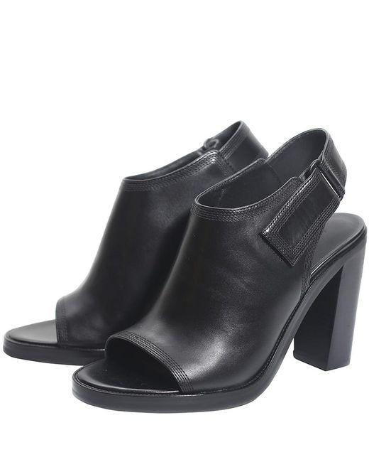 Alexander Wang - Black Leather Nadia Peep Toe Booties - Lyst