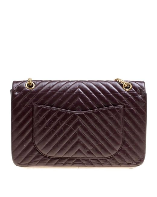 4b1eb71f614ae7 ... Chanel - Purple Burgundy Chevron Quilted Leather Reissue 2.55 Classic  227 Flap Bag - Lyst ...