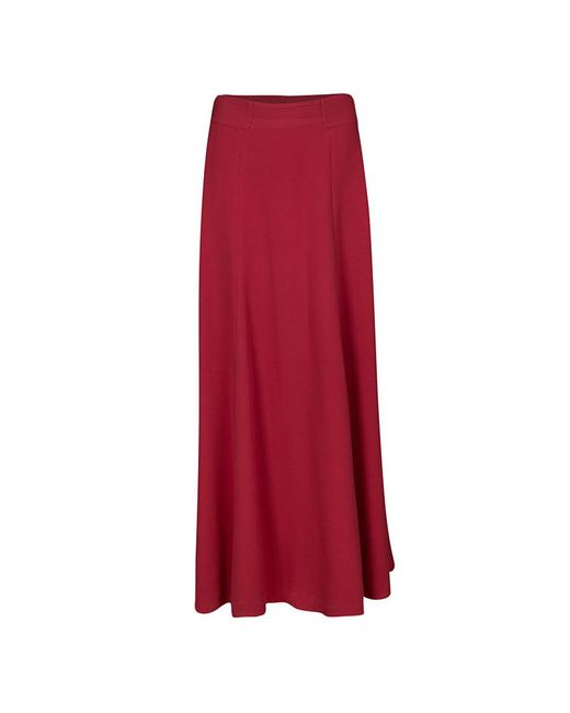 Tory Burch - Red Madyn Crepe A Line Maxi Skirt S - Lyst