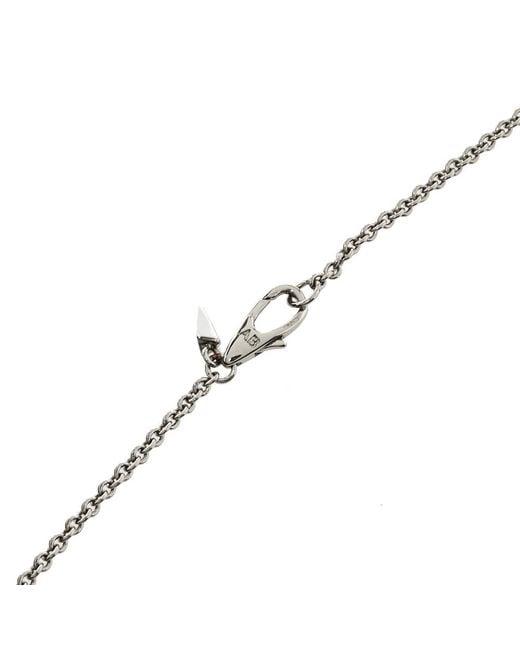 Alexis Bittar Metallic Crystal Teardrop Lucite Long Pendant Necklace