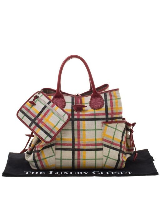 ... Burberry - Multicolor House Check Canvas Tote - Lyst ... 2c81a46a20373