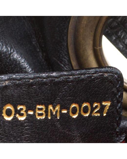 72790d5ff6d1 Lyst - Dior Cannage Leather Bucket Shoulder Bag in Black - Save ...